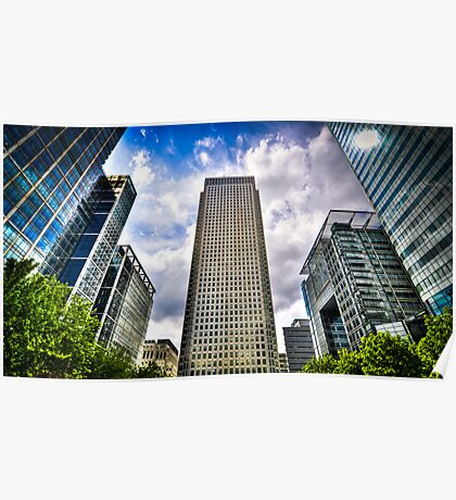 Canary Wharf Standing Head and Shoulders Poster