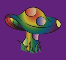 Rainbow Mushroom by Slice-of-Pizzo