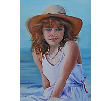 Girl in the Straw Hat Photographic Print