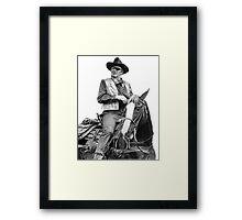 John Wayne as Rooster Cogburn Framed Print