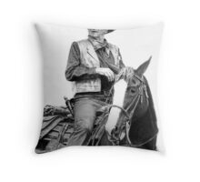 John Wayne as Rooster Cogburn Throw Pillow