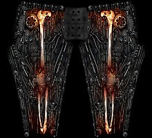 MECH-LEGS #1 : IRON - Steampunk / Dieselpunk / Bio-Mechanical / Bio-Mech - Leggings by Mister Sam Shearon by SAM SHEARON