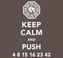 Keep calm and push 4 8 15 16 23 42 by Kiji