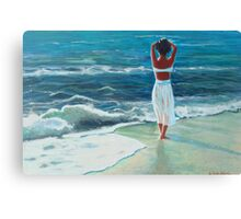 Waiting on the Shore Canvas Print