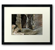 Castle Stairs Framed Print