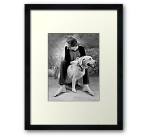 Chihuahua and the Ready or Not Message Framed Print