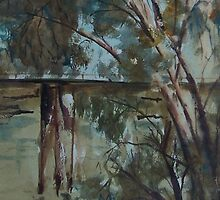 The old bridge over the Goulburn, Seymour Vic Australia by Margaret Morgan (Watkins)