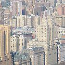 Aerial View of Upper West Side of Manhattan by lenspiro