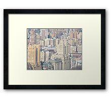 Aerial View of Upper West Side of Manhattan Framed Print