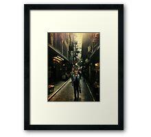Centre Place, Melbourne Framed Print