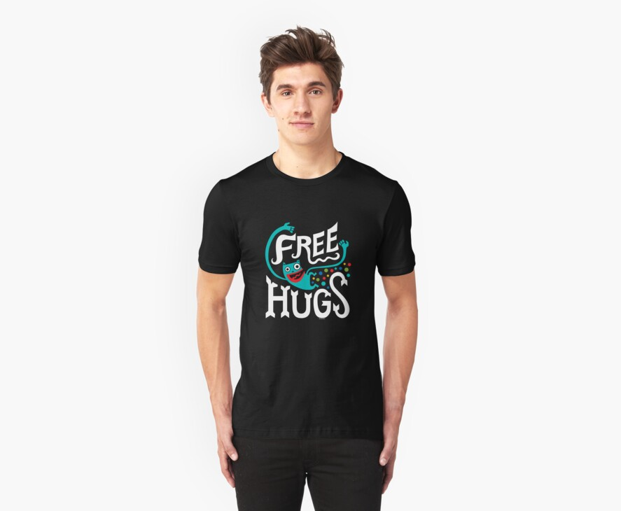 Free Hugs - on dark by Andi Bird