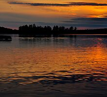 Muskoka Sunset by SamTheCowdog