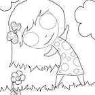 Little Girl - Coloring Page One by shandab3ar
