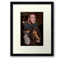 The Riders Eye! Framed Print