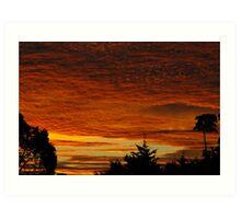 Sunset, Northern Rivers Art Print
