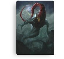 Howler in the Dark Canvas Print