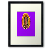 Lady of Guadalupe mural Framed Print
