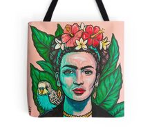 Pink Frida Kahlo Tote Bag