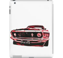 Red Ford Mustang illustration iPad Case/Skin