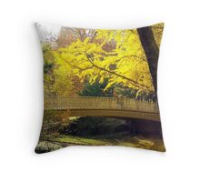 Yellow Autumn  Throw Pillow