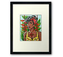 Pineapple Girl Framed Print