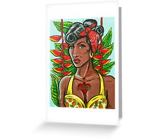 Pineapple Girl Greeting Card