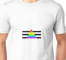 Straight ally flag paint Unisex T-Shirt