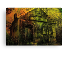 Spooky Grist Mill in Oil Canvas Print