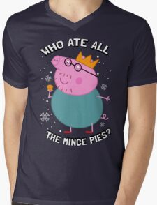 Who Ate All the Mince Pies? Mens V-Neck T-Shirt