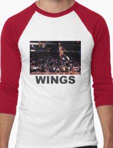 wings Men's Baseball ¾ T-Shirt