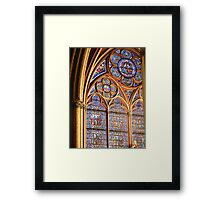 Notre Dame Window Framed Print