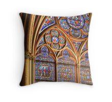 Notre Dame Window Throw Pillow