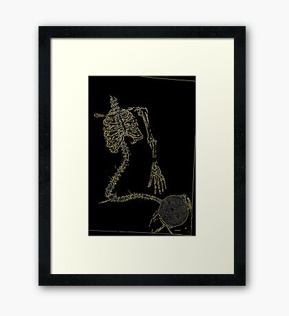 Skeleton Knit Framed Print