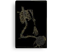 Skeleton Knit Canvas Print