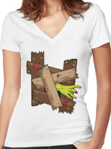 Breaking In Women's Fitted V-Neck T-Shirt