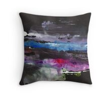 Abstract Painting Nº 12 - Black Throw Pillow