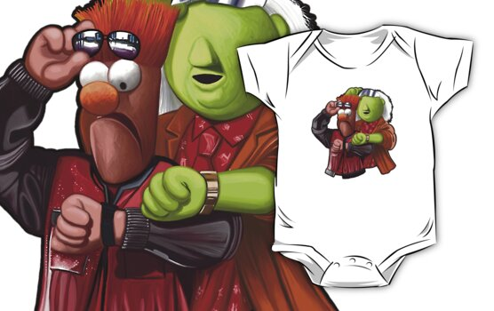 'Meep To The Future' - Beaker McMeep and Doc Honeydew by James Hance