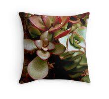Jade Leaves Throw Pillow