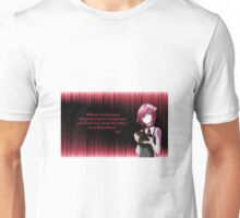Most emotional quote in the Elfen Lied series.. A very moving quote and saddest one in the amazing anime. Unisex T-Shirt