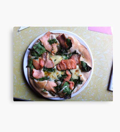Pizza Salmone Canvas Print