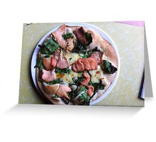Pizza Salmone Greeting Card