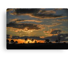 Sunset At Badgery's Creek (1), NSW, Australia Canvas Print