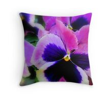 Perfect Pansies Throw Pillow
