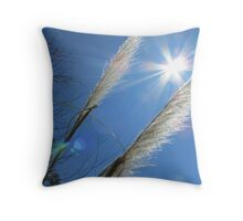 Beautiful Grasses and Bluest Sky Ever... Throw Pillow
