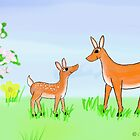 Doe and Fawn by SeaSerpent