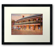 A Relaxing Drink? - The Mannum Hotel, Mannum, South Australia Framed Print