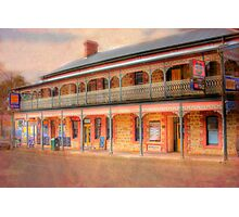 A Relaxing Drink? - The Mannum Hotel, Mannum, South Australia Photographic Print