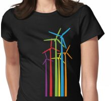 Wind Turbines Graphic Tee Womens Fitted T-Shirt
