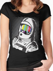 Lost Signal Cool Graphic Shirt Women's Fitted Scoop T-Shirt