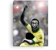 PELE ! IN A MOMENTOUS MOMENT Canvas Print